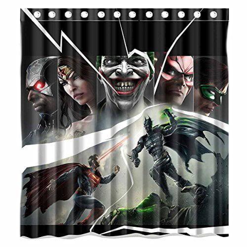 DEYOU Justice League Batman Superman and Wonder Woman Shower Curtain Polyester Fabric Bathroom Shower Curtain Size 66x72 inches - Walmart.com