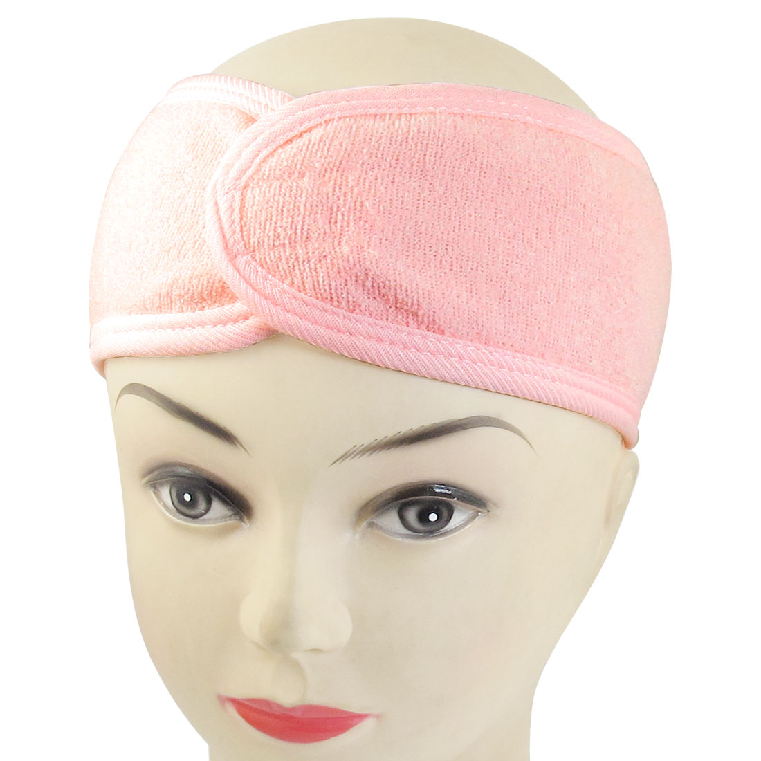 Unique Bargains Spa Bath Shower Make Up Wash Face Cosmetic Headband Hair Band Pink