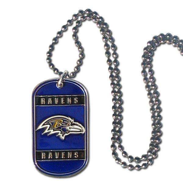 Baltimore Ravens Official NFL Tag Necklace by Siskiyou 125454