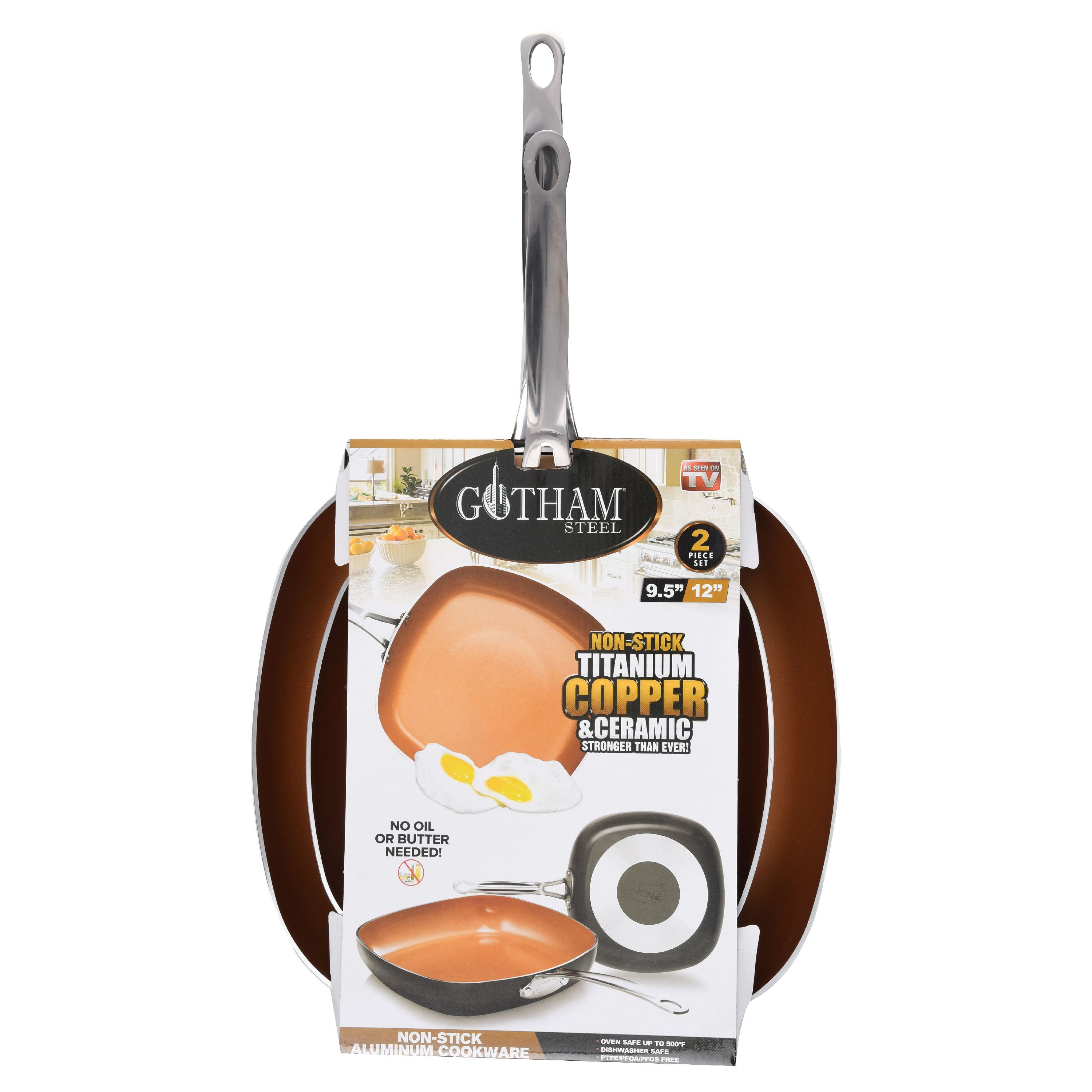 Gotham Steel Gs 2pk Sq Pan