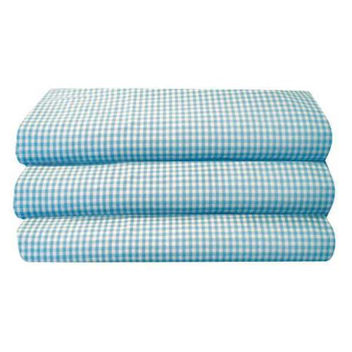 FOUNDATIONS CS-TS-BG-12 Cot Sheet, Toddler, Gingham, PK 12