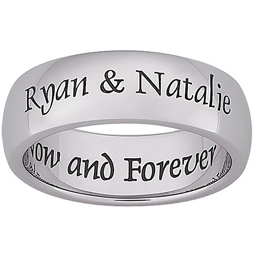 Personalized Love Now Engraved Message Stainless Steel Band