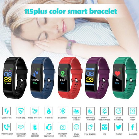 Bluetooth Smart Watch Heart Rate Blood Pressure Monitor Fitness Tracker (Bluetooth Low Energy Heart Rate Monitor Chest Strap)