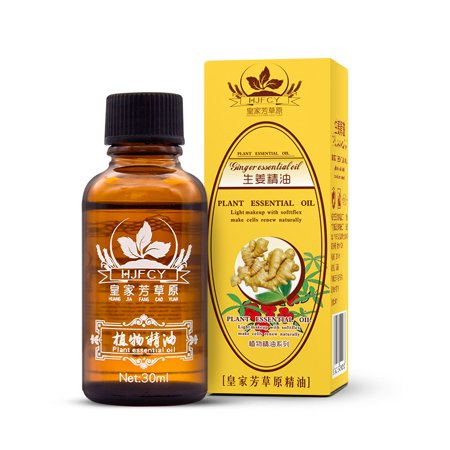 Natural Ginger Oil Essence Lymphatic Drainage Therapy Massage Body Care