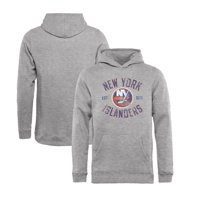 newest 10e5e 2cfdf Product Image New York Islanders Fanatics Branded Youth Heritage Pullover  Hoodie - Ash