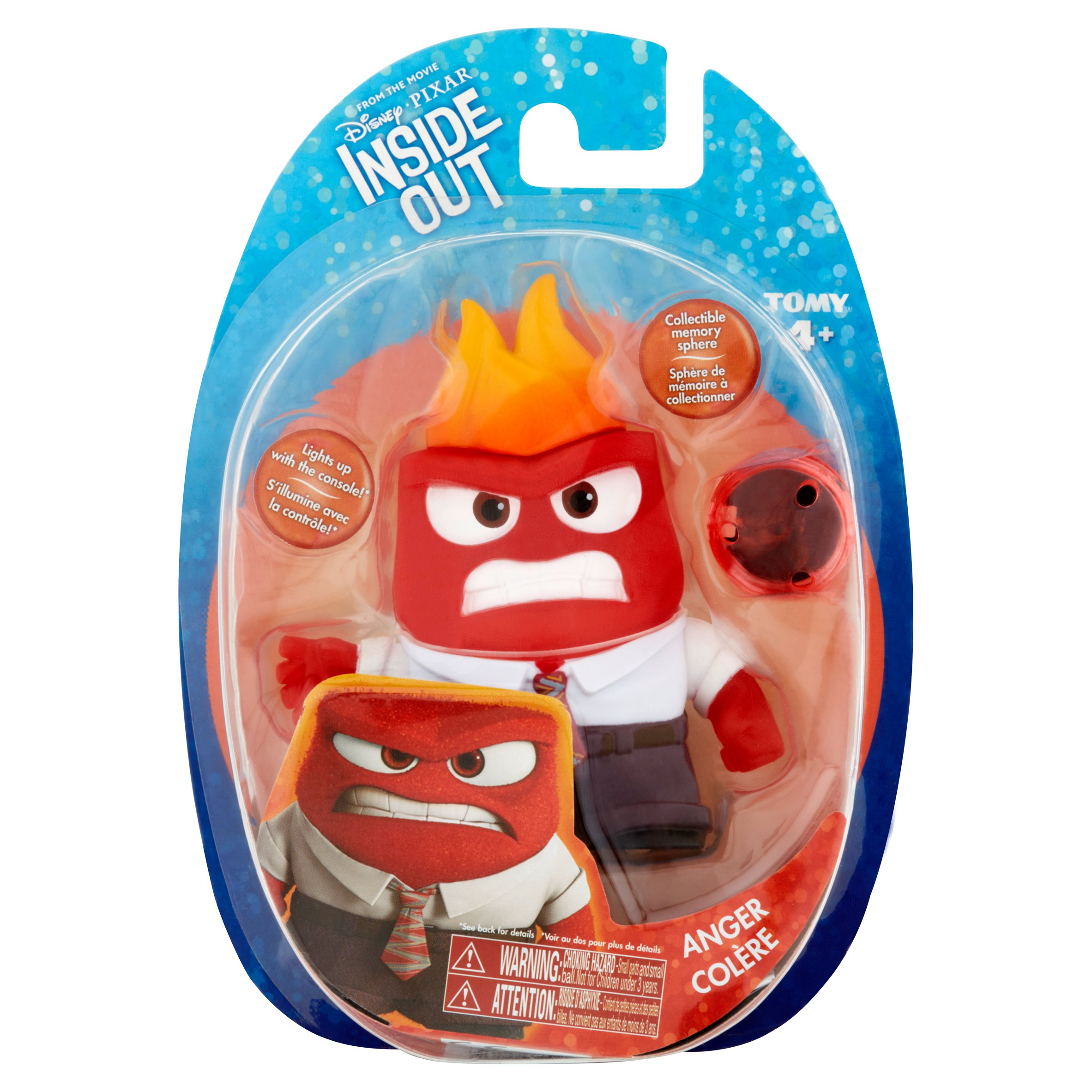 Disney Pixar Inside Out Core Figure Anger with Sphere
