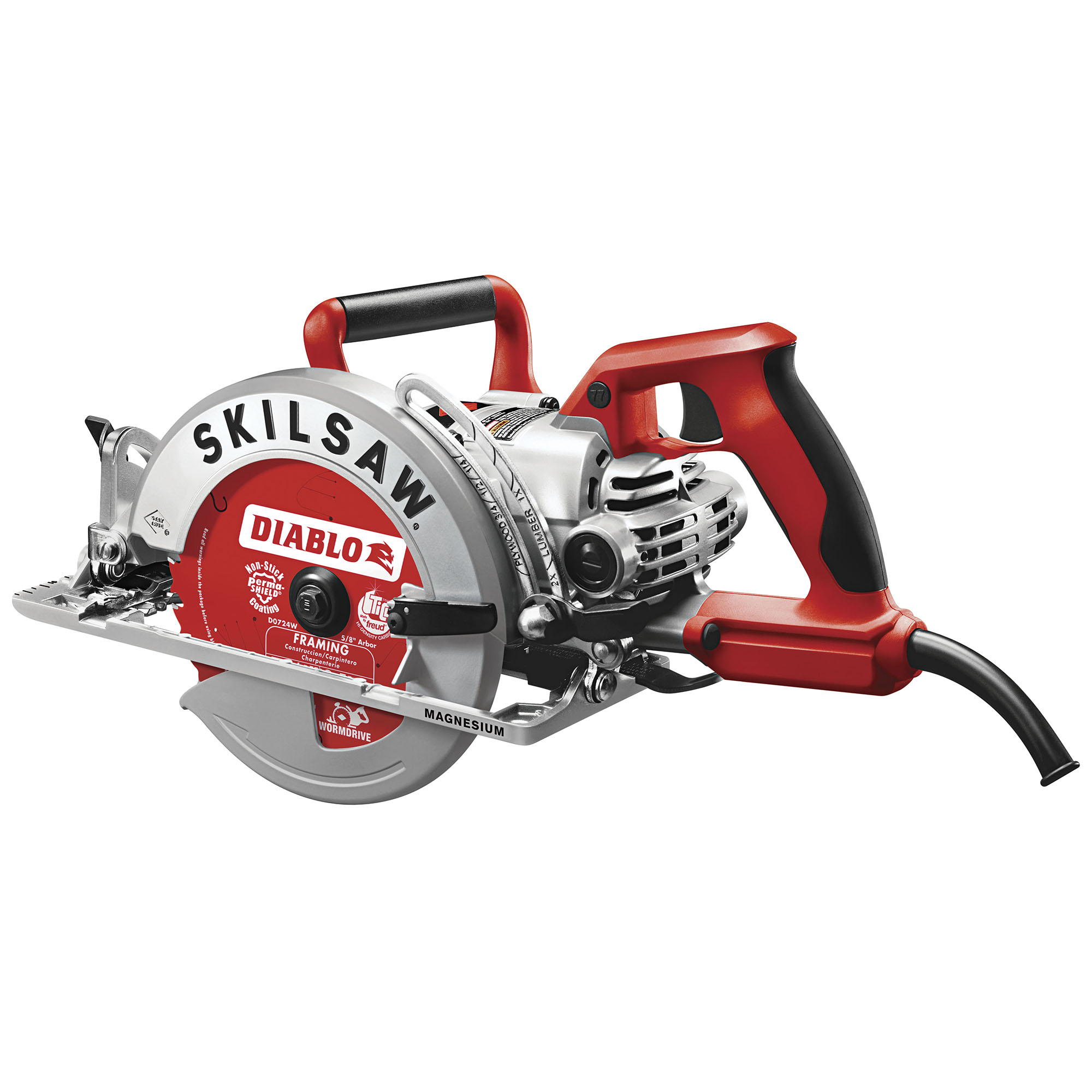 SKILSAW SPT77WML-22 Worm Drive Circular Saw,7-1/4 In,15A