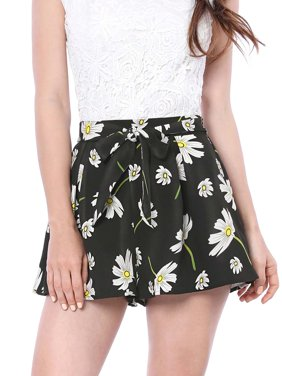 Women's Floral Print Elastic Tie Waist Beach Summer Shorts