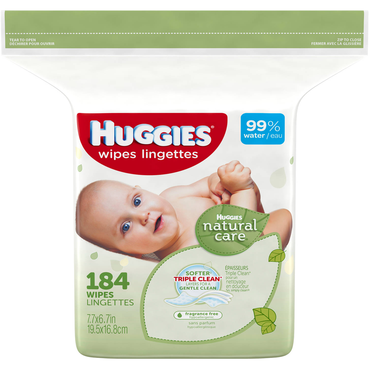 HUGGIES Natural Care Baby Wipes Refill, 184 sheets