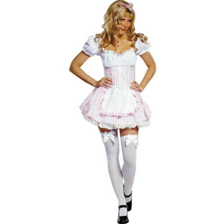 Morris Costumes Womens Candy Two-Tone Corseted Dress Striper Large](Striper Dress)