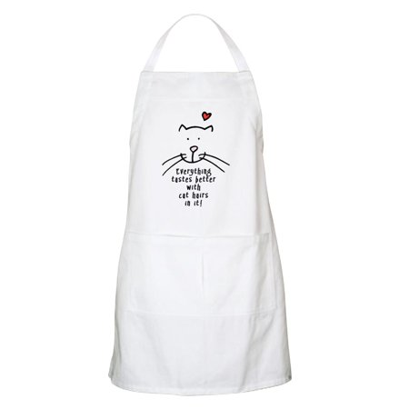 CafePress - Everything Tastes Better With Cat Hair In It Apron - Kitchen Apron with Pockets, Grilling Apron, Baking