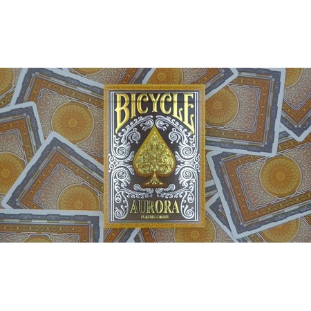 - 1 DECK OF AURORA FOIL EMBOSSED TUCK BOX BICYCLE STANDARD POKER PLAYING CARDS