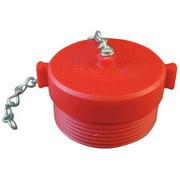 Moon American 663-152 MNH Fire Hydrant Rocker Lug Plug w/Chain, 1-1/2 In