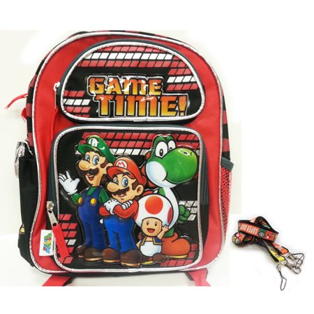 Backpack - Nintendo - Super Mario - Game Time New (Large School Bag) 078663 - Super Mario Chess