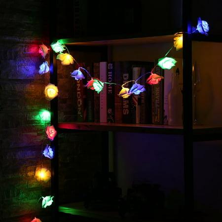 20leds White Rose Led String Lights For Christmas Decor Fairy Light Battery