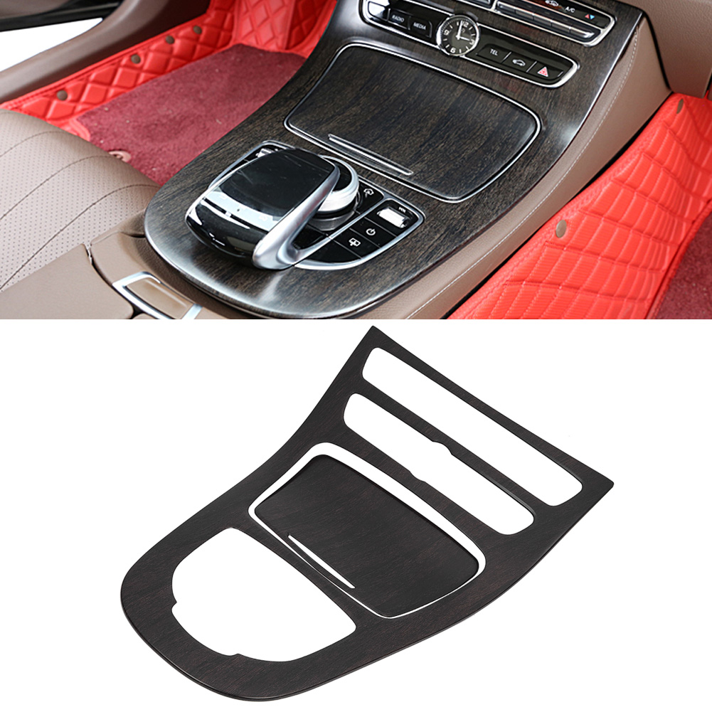 Carbon Style Center Console Gear Shift Panel Cover Trim For Benz E-Class W213
