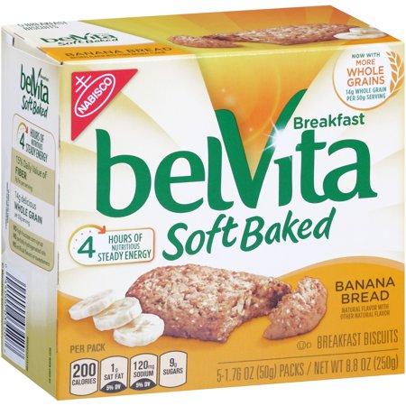 Belvita Breakfast Soft Baked Breakfast Biscuits Banana Bread  1 76 Oz  5 Count