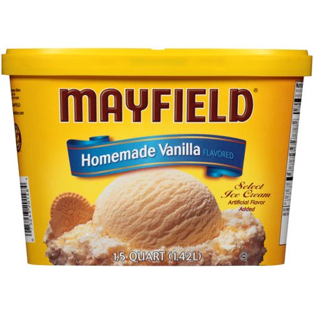 Ice Cream Mini Button - Mayfield Homemade Vanilla Flavored Select Ice Cream, 1.5 qt