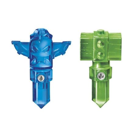 lot of 2 traps ~ skylanders trap team green life hammer trap & blue tiki trap (Light Dark Trap Team)
