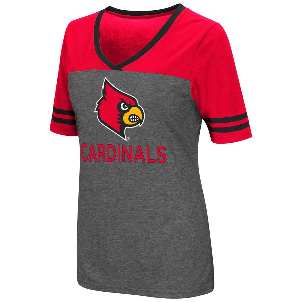 Ladies Colosseum Mctwist Louisville Cardinals Jersey T Shirt