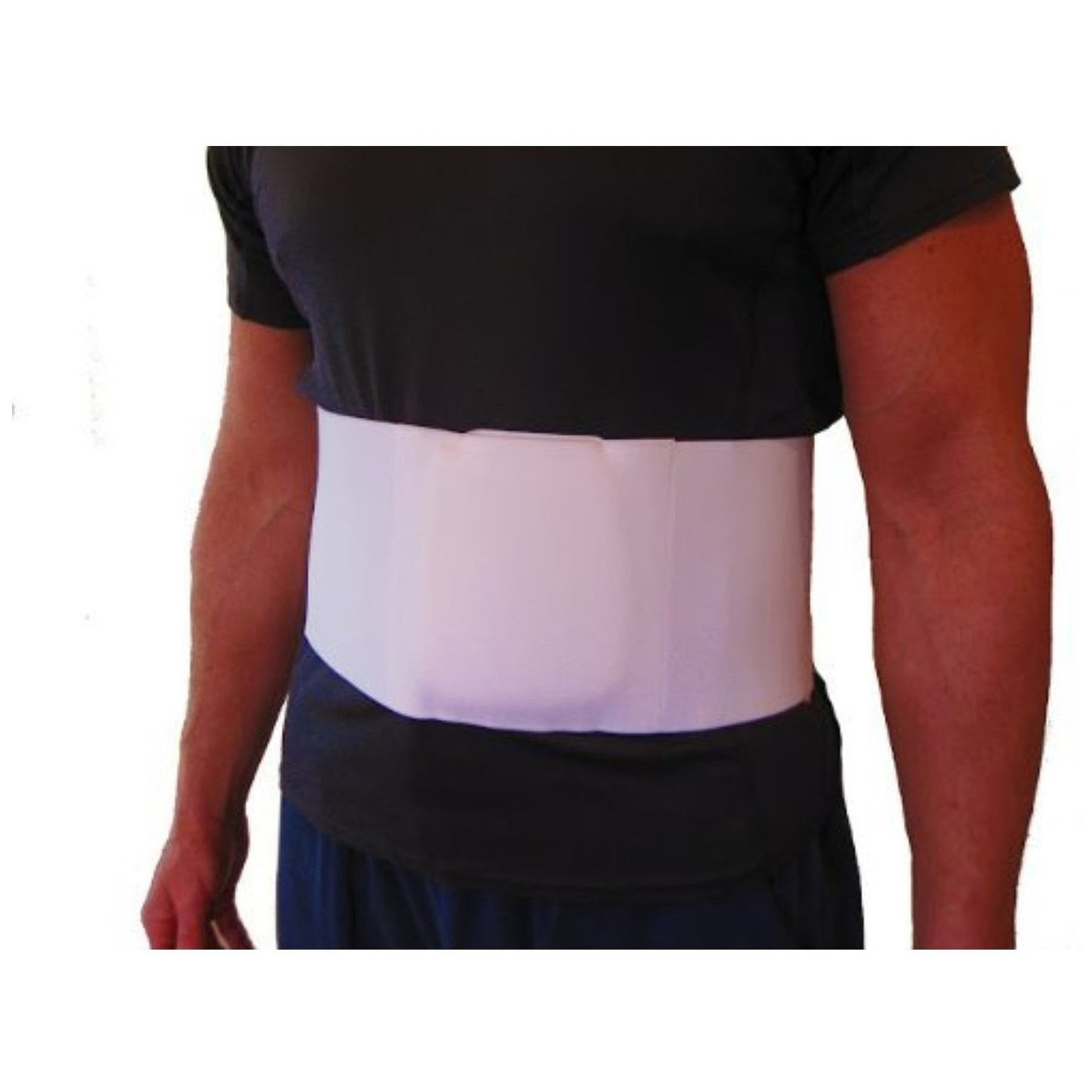 "FlexaMed Umbilical Hernia Belt with Compression Pad - 6"" Wide (S)"