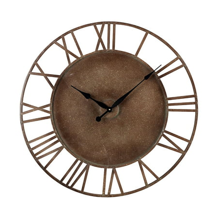 Image of METAL ROMAN NUMERAL OUTDOOR WALL CLOCK.