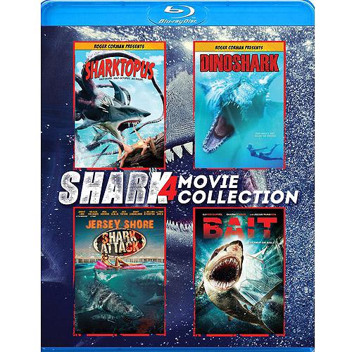 Shark 4-Pack: Jersey Shore Shark Attack / Sharktopus / Bait / Dinoshark (Blu-ray) (Widescreen)