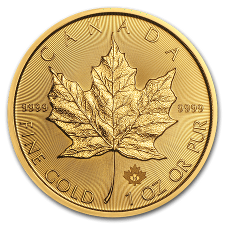 Canadian One Cent Coins - 2019 1 oz Gold Canadian Maple Leaf Coin BU
