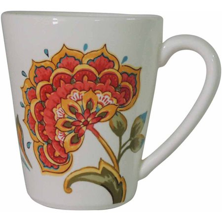 Better Home and Garden Set of 4 Floral Mug