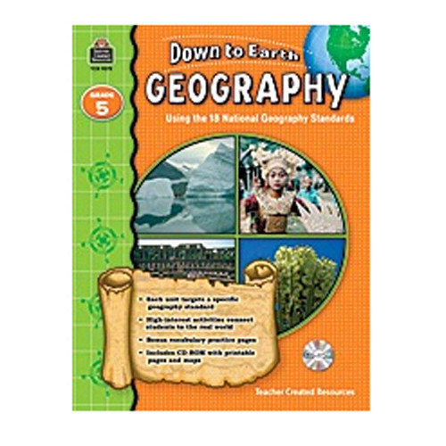 Teacher Created Resources Down To Earth Geography Gr5 Bk W/cd