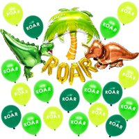 40 Packs Assorted Dinosaur Roar Themed Party Green Balloon for Kid's Birthday Party