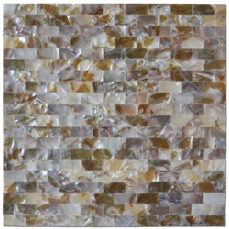 Ceramic Tile Kitchen Backsplashes (Mother of Pearl Mosaic Tile for Kitchen Backsplashes, Shower Walls, Pool Tile, Colorful Subway, 12