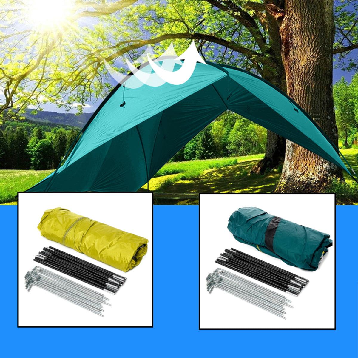 Portable Outdoor Camping Pad Canopy Tent Shelter Tarp Sun Shade Waterproof