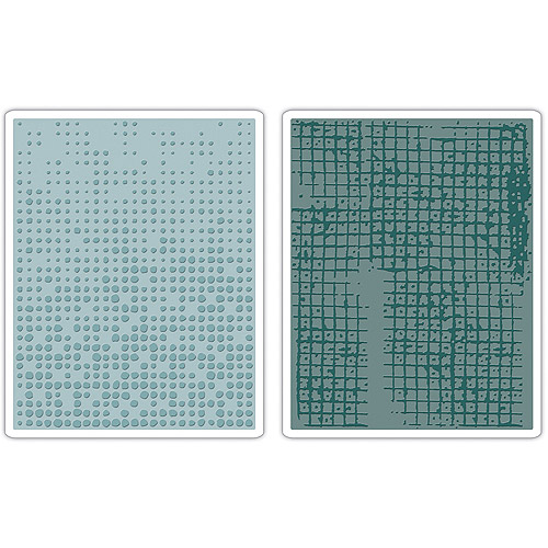 Tim Holtz Alterations Texture Fades Embossing Folders, Dot Matrix & Gridlock