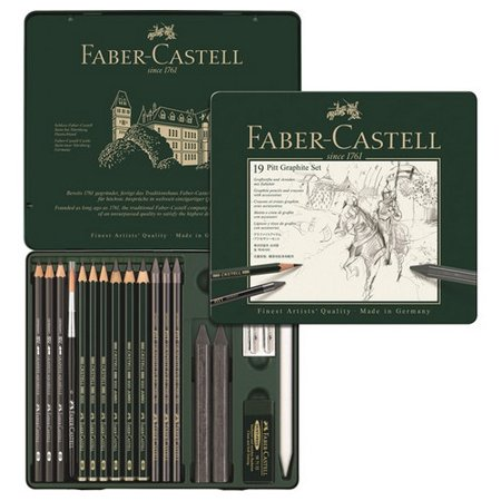 FABER-CASTELL USA 112973 PITT GRAPHITE TIN 19PC SET
