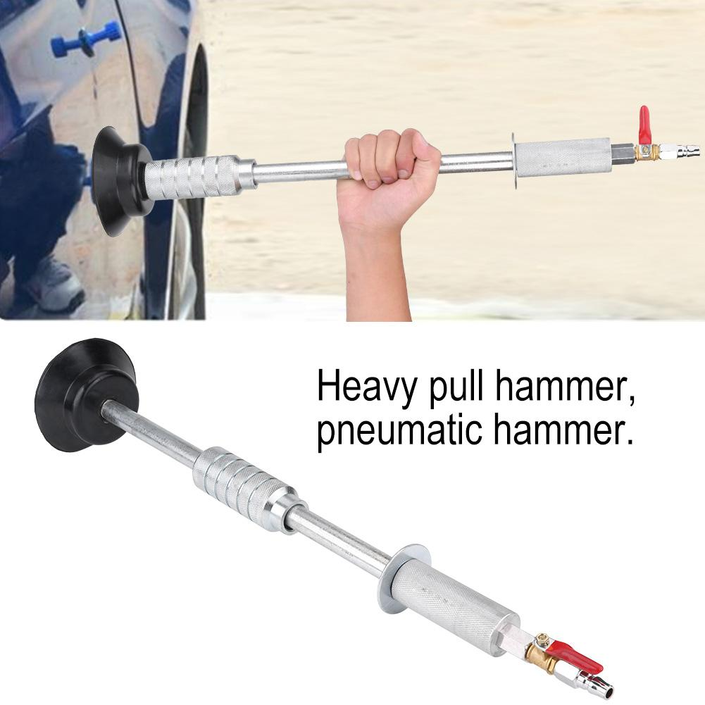 Dilwe Heavy Pneumatic Sag Repair Pull Hammer Car Body Dent Repair Suction Cup Slide Tool, Pneuamatic Hammer, Suction Cup