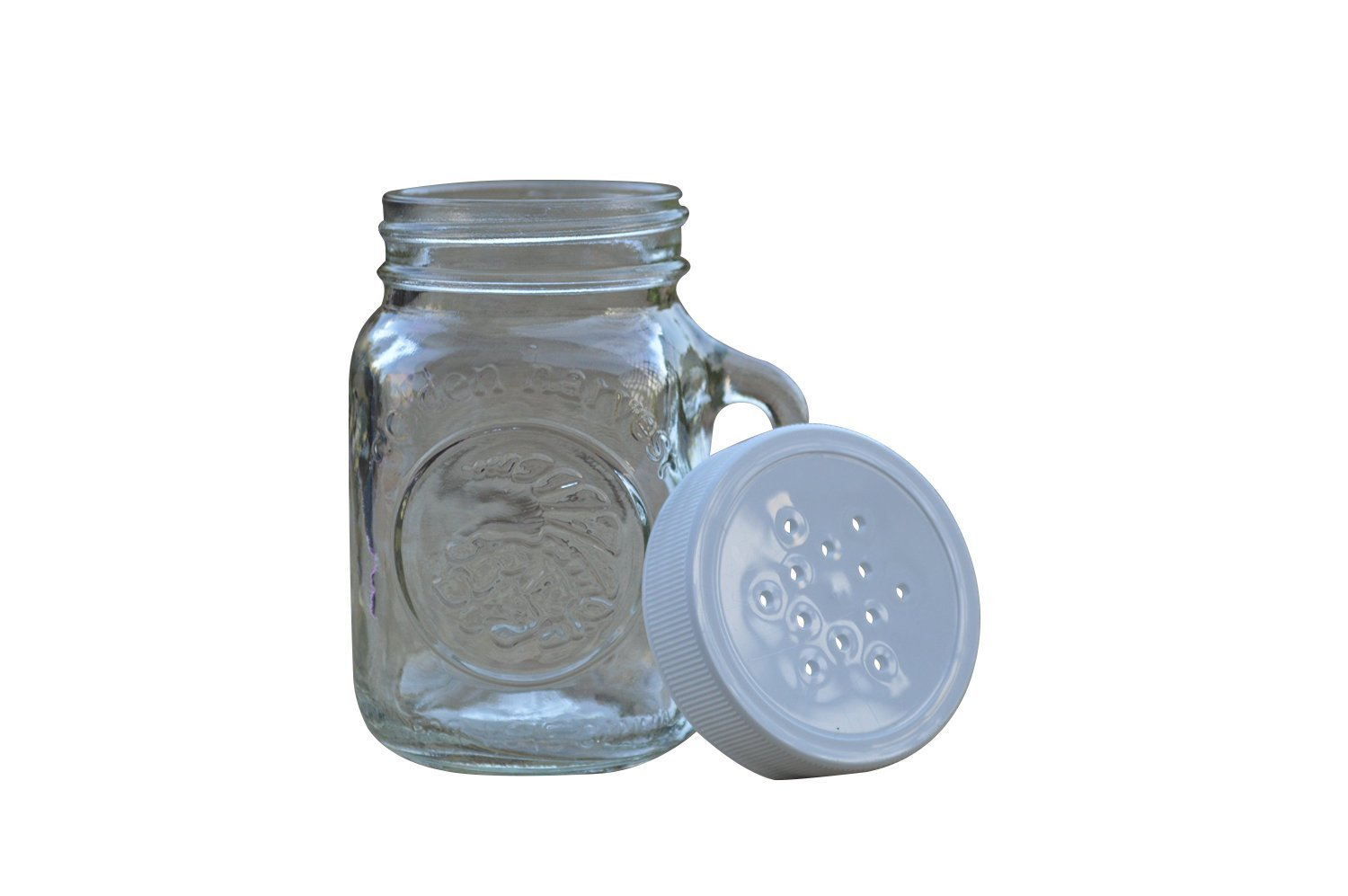 Golden Harvest, Ball Mason Jar Glass Salt and Pepper Shakers (Clear, Set of 2) by