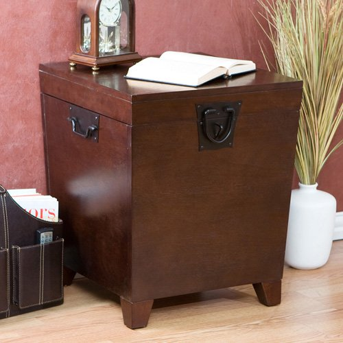 Delicieux Southern Enterprises Pyramid Trunk End Table   Espresso