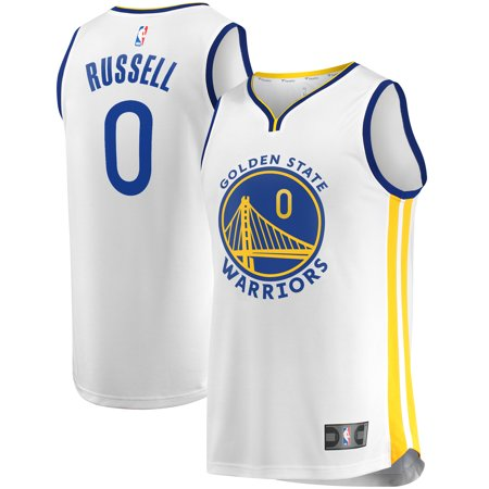 D'Angelo Russell  Golden State Warriors Fanatics Branded Youth Fast Break Player Replica Jersey - Association Edition - Russell Youth White Replica Jersey