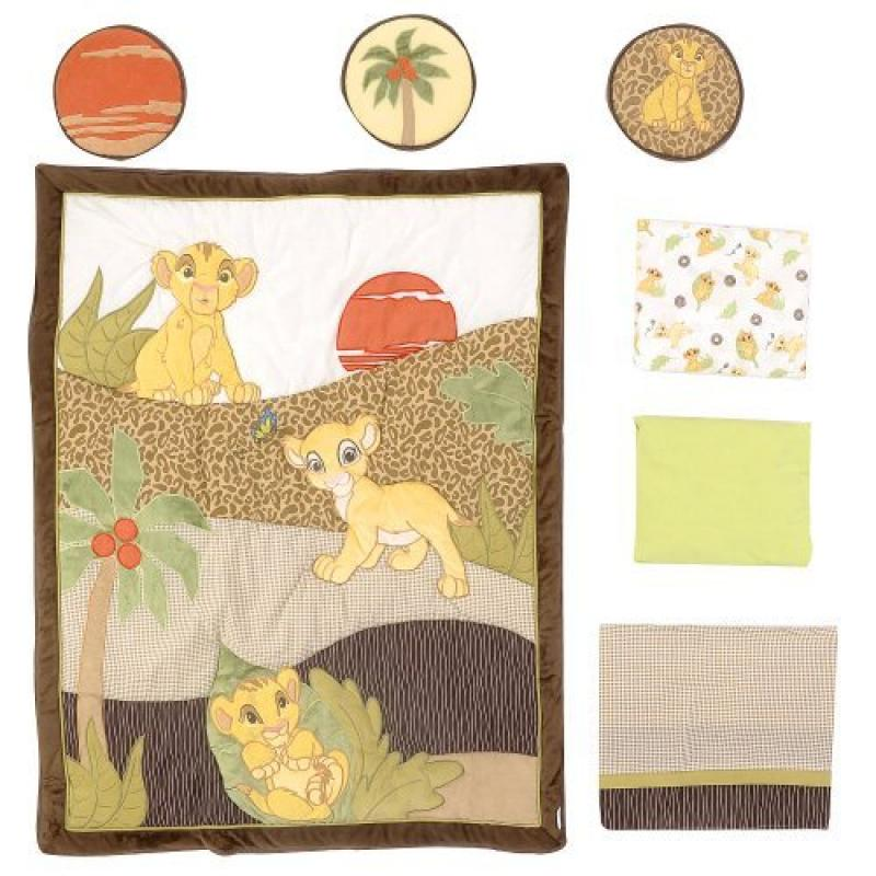 Kidsline Disney Lion King 7 Piece Crib Bedding Set
