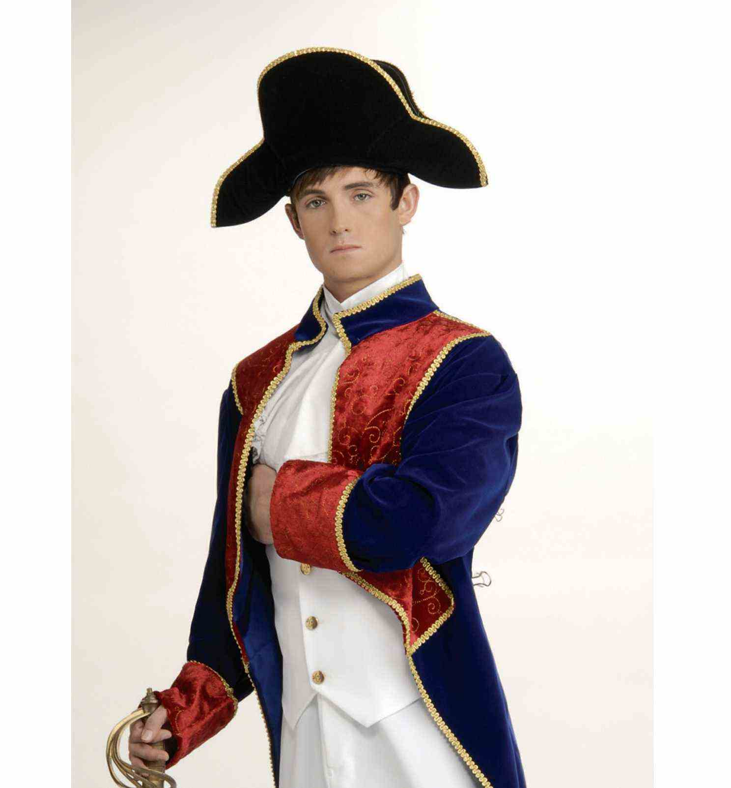 Napoleon Hat Bonaparte French Army Admiral Cap Costume Bicorn General Adult
