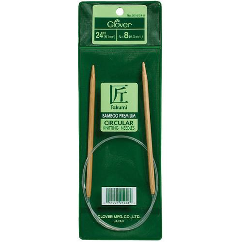 Clover Bamboo Size Nine 24-inch Circular Knitting Needles