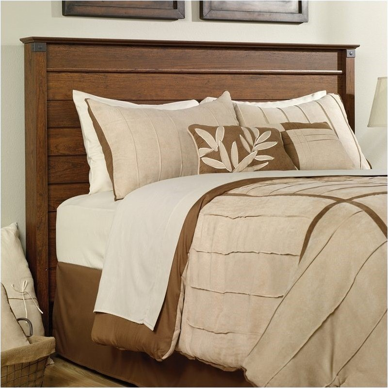 Pemberly Row Full and Queen Panel Headboard in Cherry