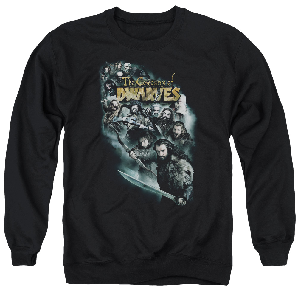 The Hobbit Company Of Dwarves Mens Crewneck Sweatshirt