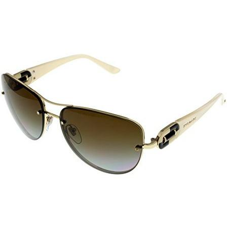 20a667bb92e0b Bvlgari - Bvlgari Sunglasses Womens Pale Gold Aviator Polarized BV6053BM 278  T5 Size  Lens  Bridge  Temple  60 16 135 51.2 - Walmart.com