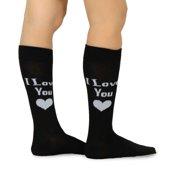 TeeHee Valentine's Day I love you  Men's Cotton Crew Sock