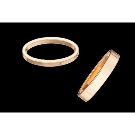 Long Oval Shape Bead Frame 16K Gold-Finished 16x8mm pack of 30 (2-Pack Value Bundle), SAVE $1