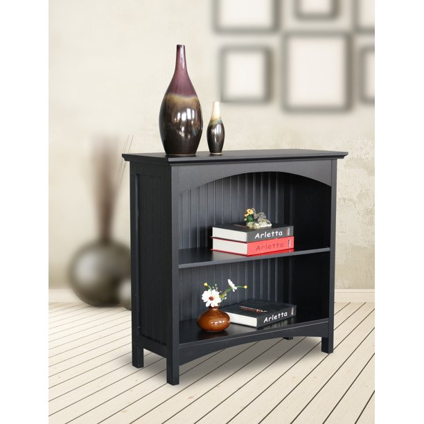 2 Tier Bookcase in Black - Walmart.com - Walmart.com