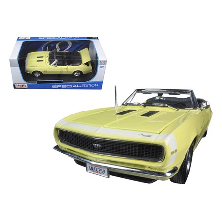 1967 Plymouth Barracuda Convertible (1967 Chevrolet Camaro SS 396 Convertible Yellow 1/18 Diecast Model Car by Maisto )