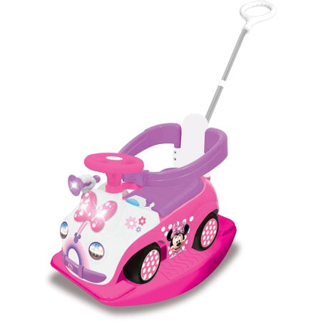 Kiddieland Disney Minnie Mouse 4-in-1 Activity Ride-On](Minnie Mouse Airplane)